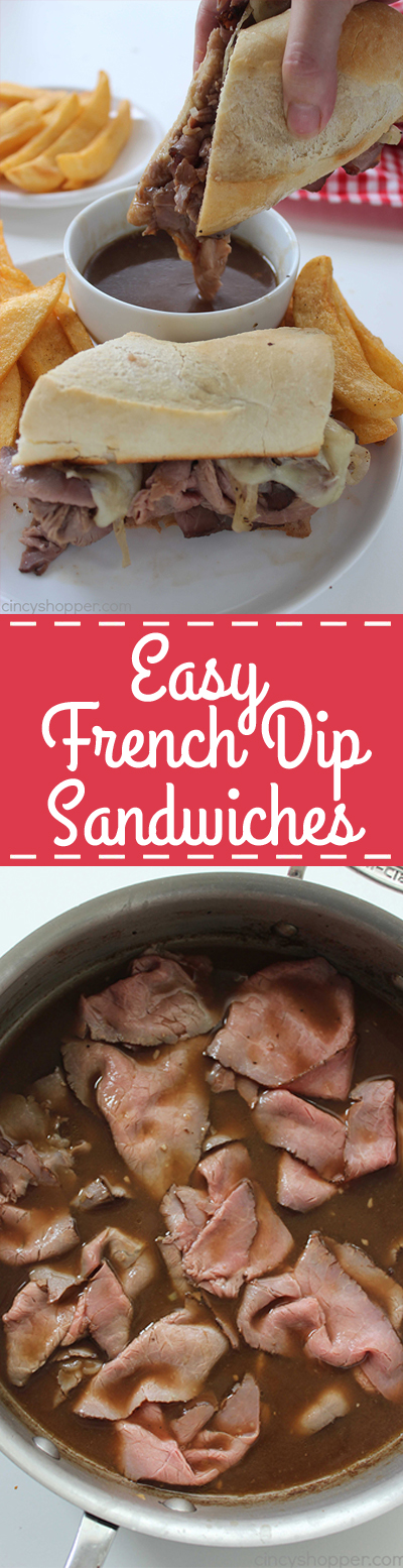 Easy French Dip Sandwiches #breakfast