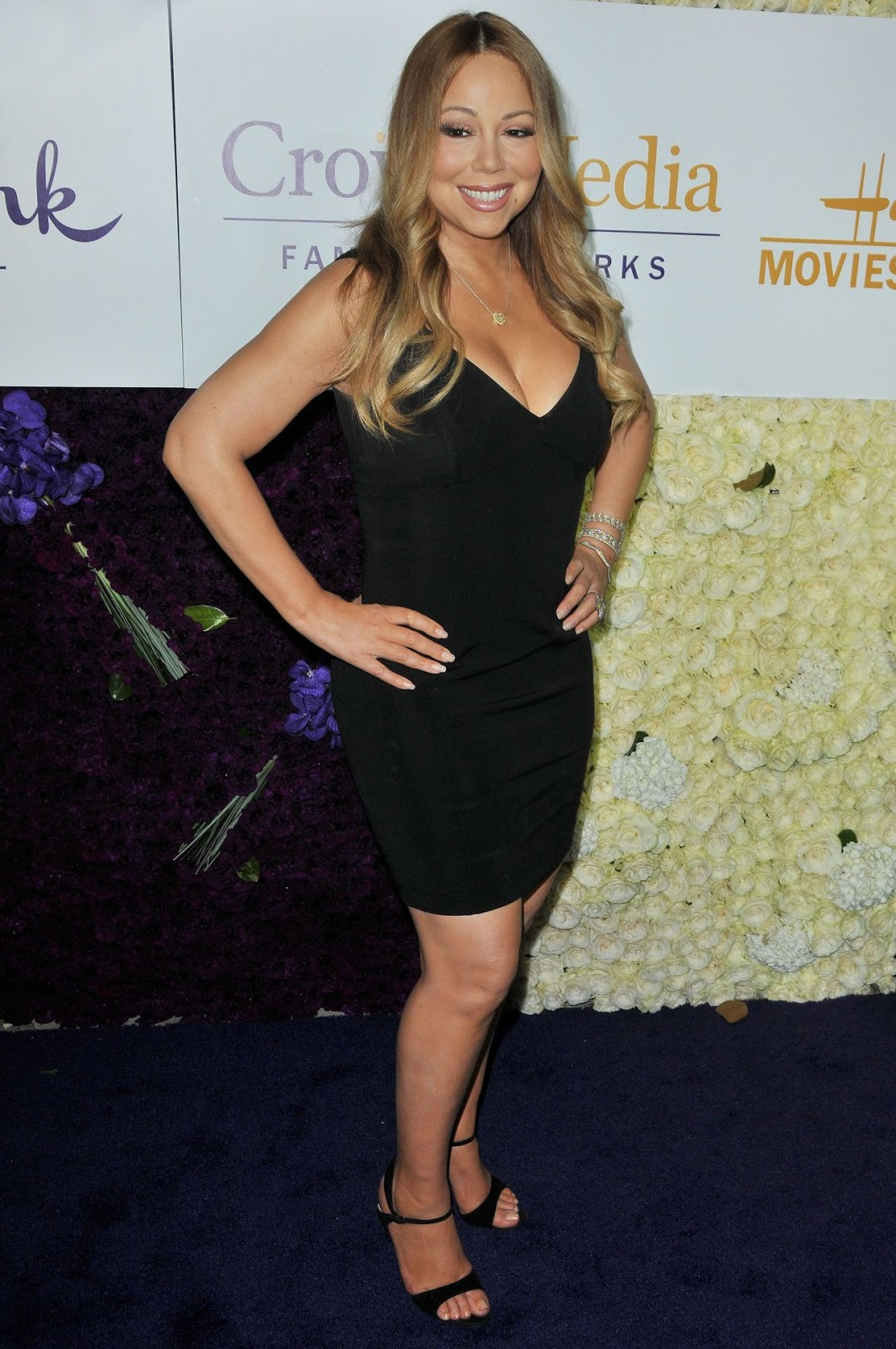 Mariah Carey in a clinging mini dress at the Hallmark Summer 2015 TCA Tour Event in Beverly Hills
