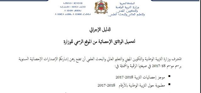 الإصدارات الإحصائية السنوية لوزارة التربية الوطنية برسم موسم 18-2017