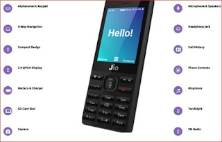 Jio Phone Features and Specifications