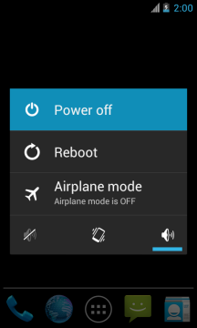 android power menu