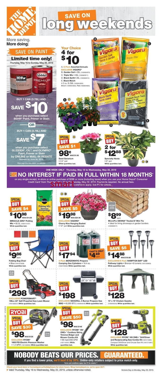 013104e1f27 Home Depot Flyer July 11 - 17, 2019 - Weekly Flyers Ontario