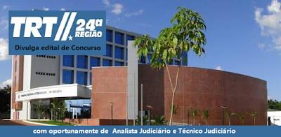 publicado o edital de concurso Público TRTMS da 24ª Região 2016-2017