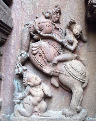 Yali or Gaja-vyala depicted on the walls of the Mukteswar Temple, Bhubaneshwar