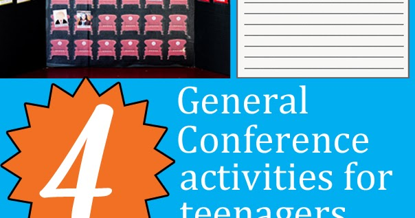 general conference activities for older kids
