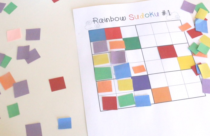 Color Sudoku Challenge for Kids - Printable