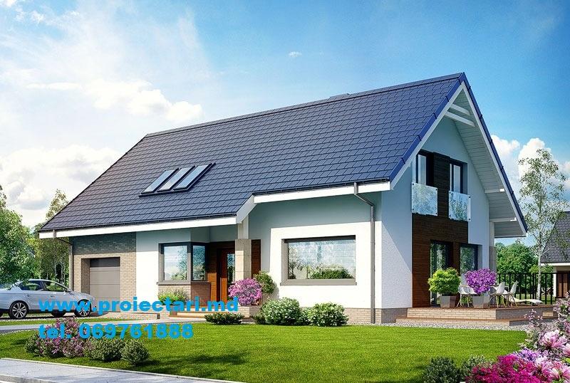 Proiecte de case proiecte de casa cu parter mansarda for Proiecte case cu garaj si mansarda