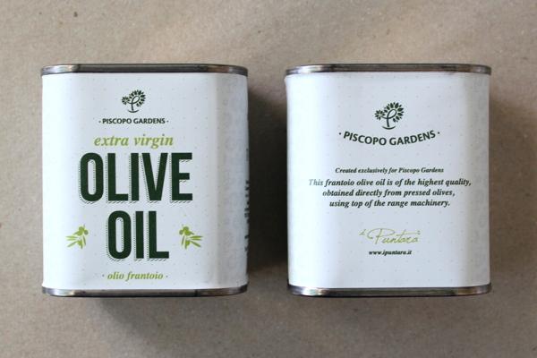 Garden Centre: Piscopo Gardens Extra Virgin Olive Oil On Packaging Of The