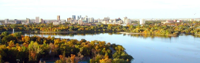 Downtown Regina from Across Wascana Lake in Autumn