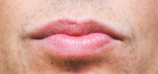 lábios masculinos