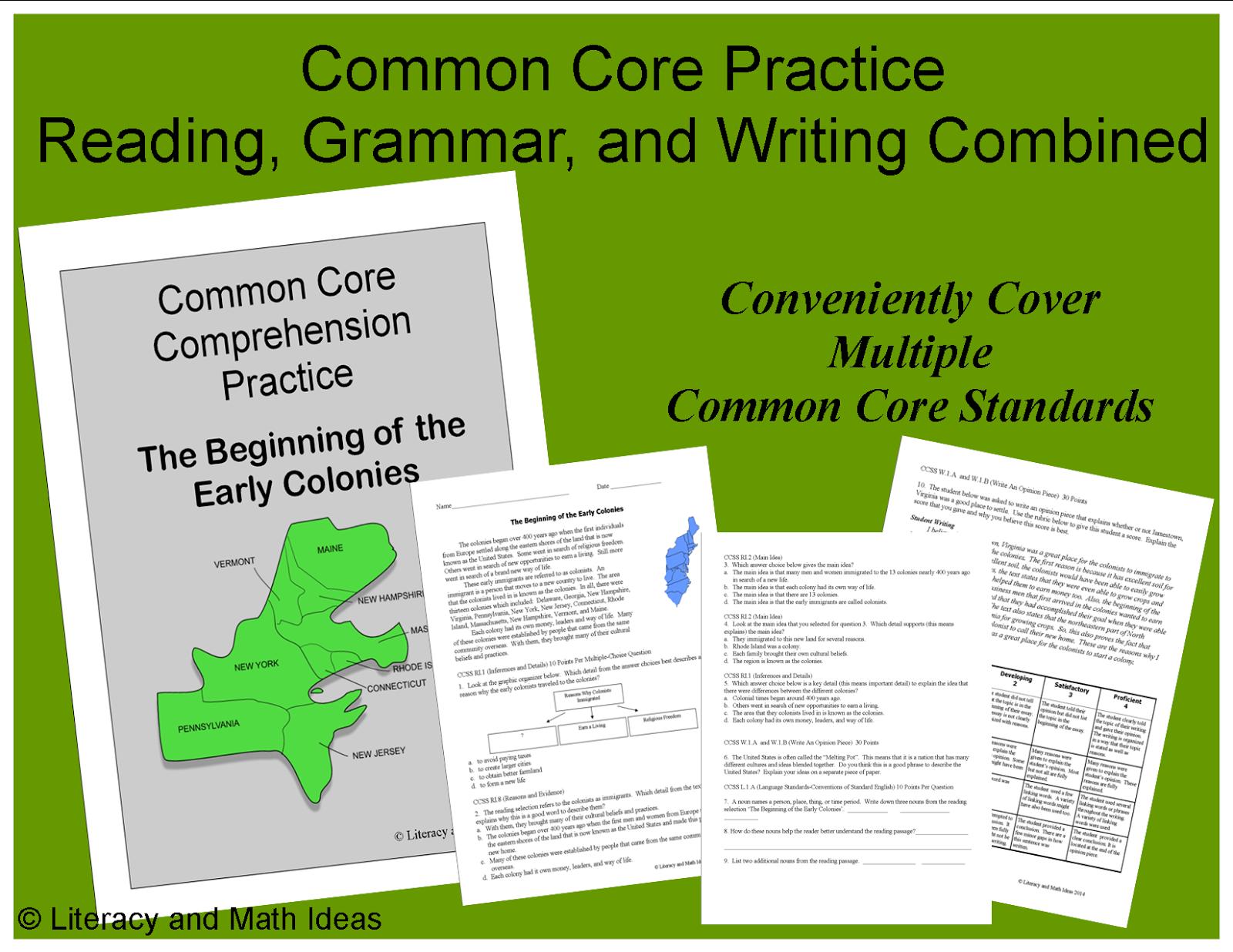 Literacy Amp Math Ideas Common Core Reading Social Stu S