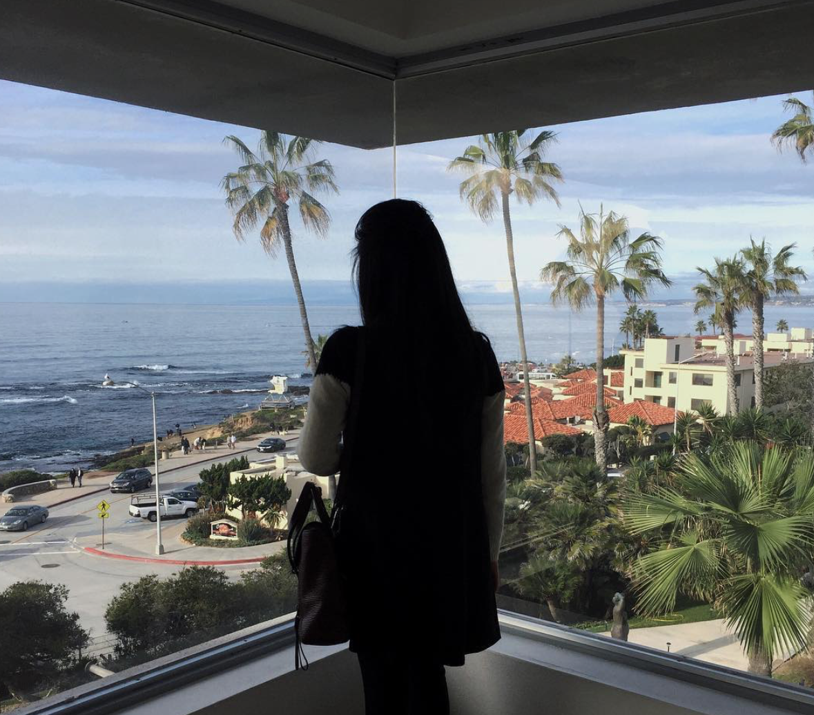 San Diego Museums_Big Window_Ocean View_La Jolla Museum_Museum of Contemporary Art in San Diego_Adrienne Nguyen_Palm Trees_California