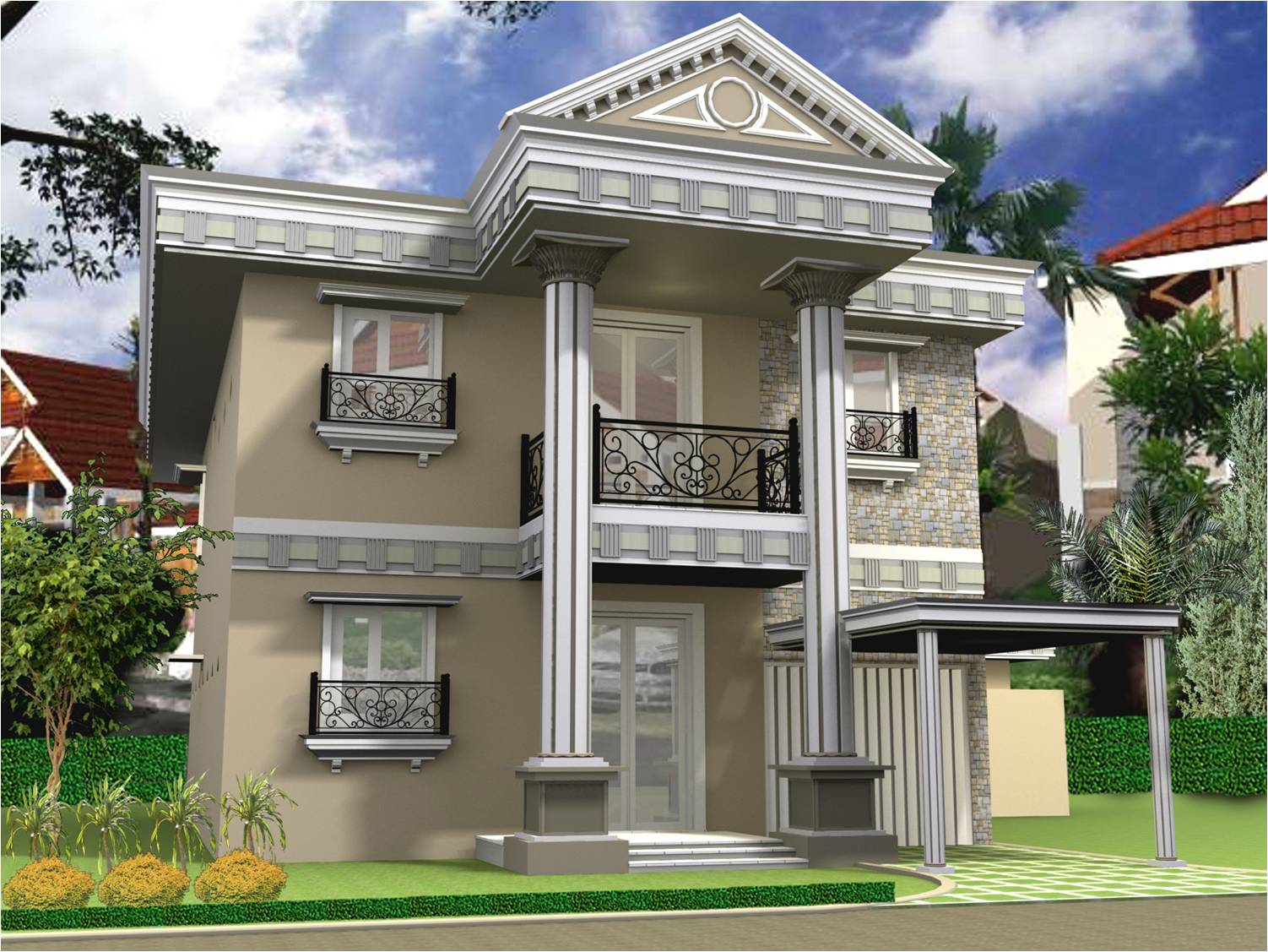rumah  minimalis 2  lantai  terbaru contoh  model rumah