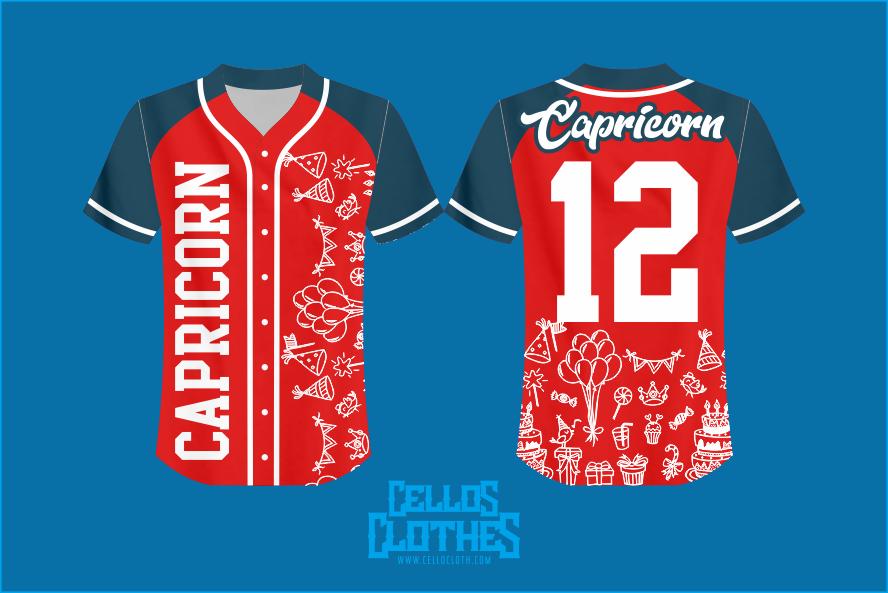 Desain Baju Jersey Baseball Pola Raglan Full Printing Full Color