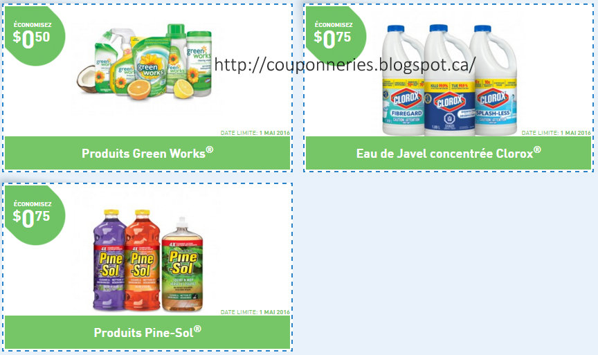 coupons et circulaires 3 coupons sur green works clorox pine sol. Black Bedroom Furniture Sets. Home Design Ideas