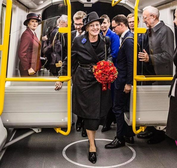 Queen Margrethe attended the opening of M3 Cityringen metro line in Copenhagen and Frederiksberg Municipality