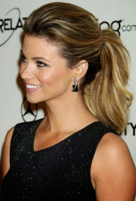 2015 Celebrity Ponytail Hairstyle}
