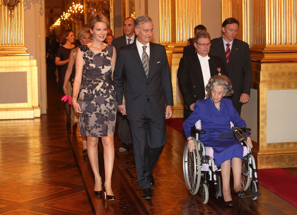 Prince Lorentz, Princess Astrid, Queen Fabiola, Queen Paola, King Albert, Prince Philippe, Princess Mathilde, Prince Laurent and Princess Claire