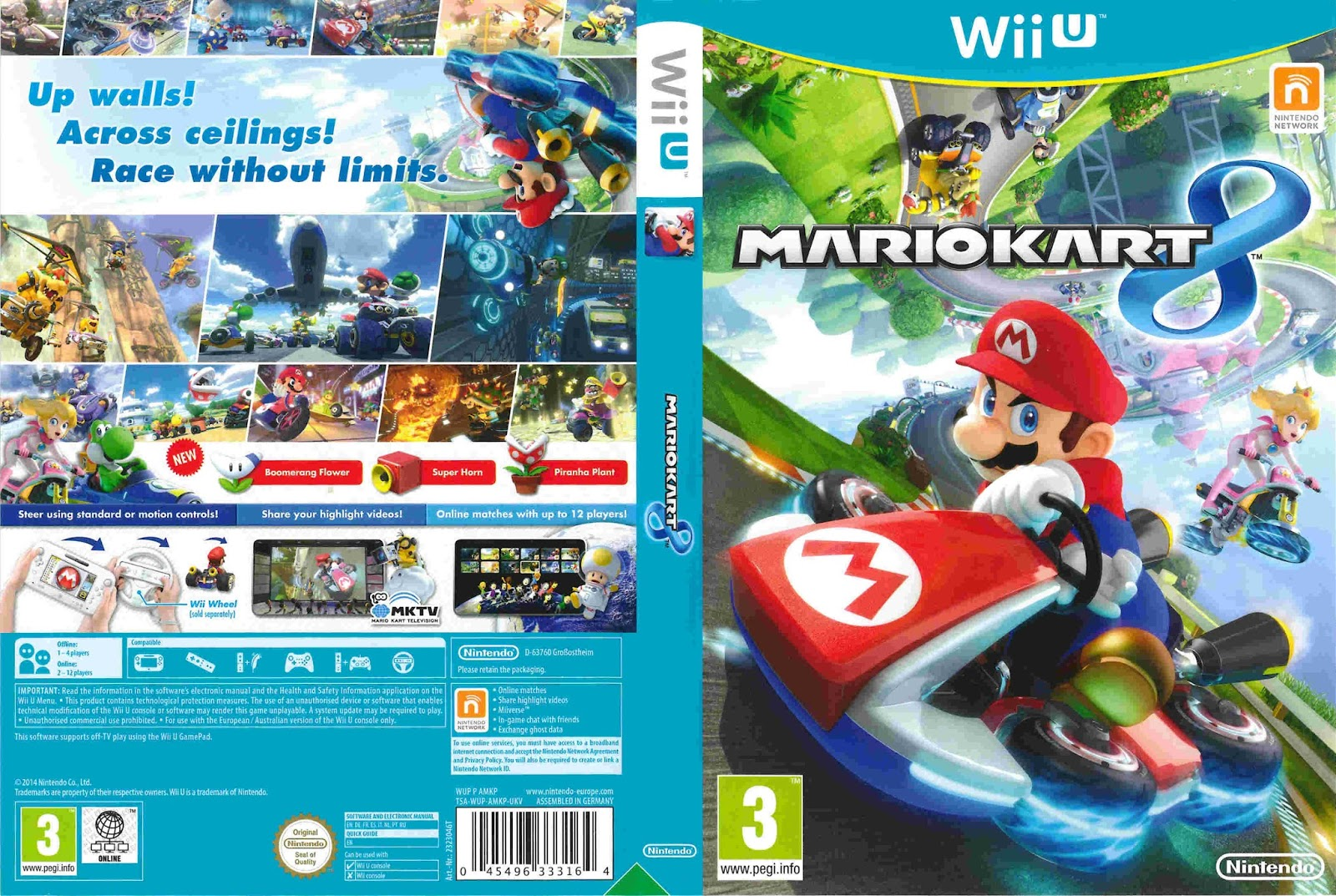 base um gtba mario kart 8 capa game wii u. Black Bedroom Furniture Sets. Home Design Ideas