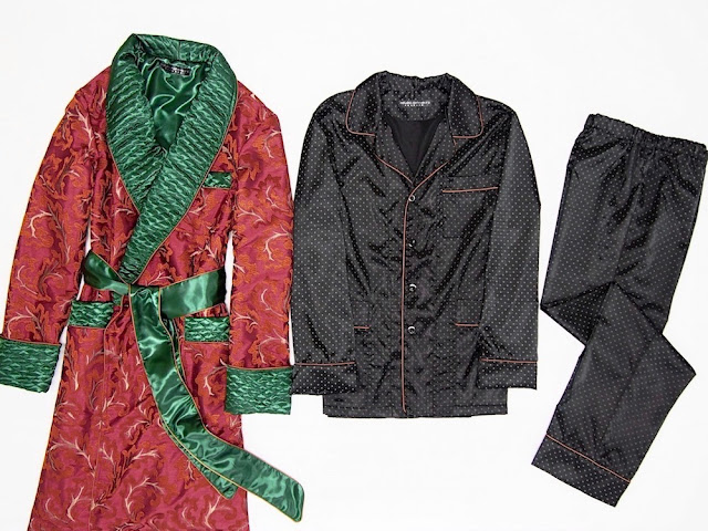Men's red paisley silk dressing gown quilted shawl collar robe long warm smoking jacket housecoat