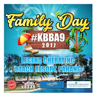 Macam mimpi dapat join Family Day KBBA9 di Legend Resort Cherating.