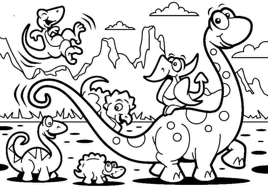 Dinossauro Dino Dinosaur Colorir Pintar Molde Risco Imprimir
