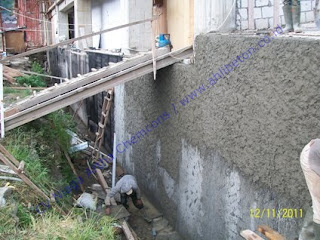 waterproofing retaining wall