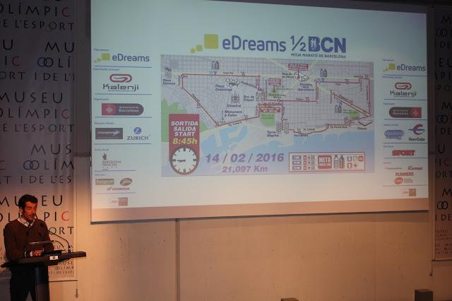 Presentación eDreams Mitja Marató Barcelona