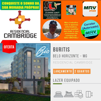 Residencial Cambridge.2 quartos no Buritis, BH-MG