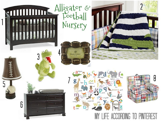My Life According To Pinterest Alligator & Football Nursery
