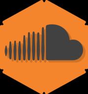 soundcloud hexagon icon