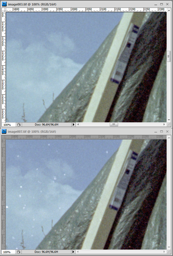 Reflecta Proscan 7200 test & comparison with Epson v500