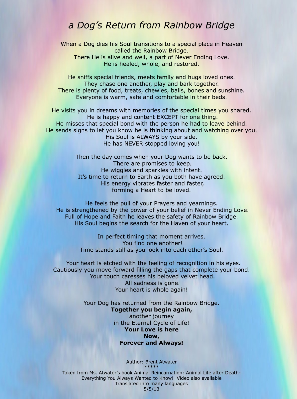 Dog Rainbow Bridge Story l Dog death Poem l Dog Death l Dog
