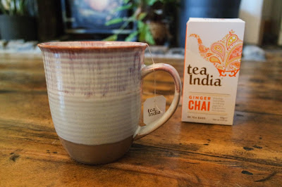 Tea India Typewriter Teeth Blog Review  Ginger Chai Tea