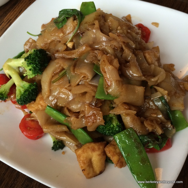 drunken noodles at SriPraPhai in Woodside, Queens, NYC