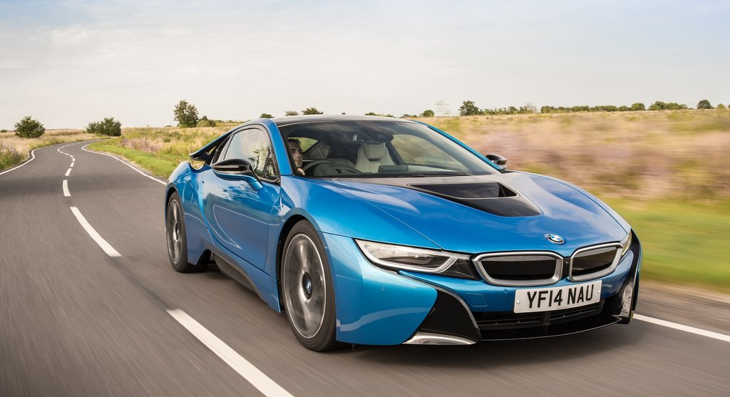 Bmw I8 Electric Blue Wallpaper 1024x557