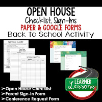 Open House Checklist and Sign-In Print and Google Form Teacher PD Series, Open House, Teacher Planning, Professional Development