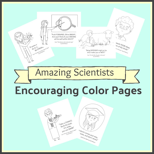 Encouraging Color Pages based on Amazing Scientists