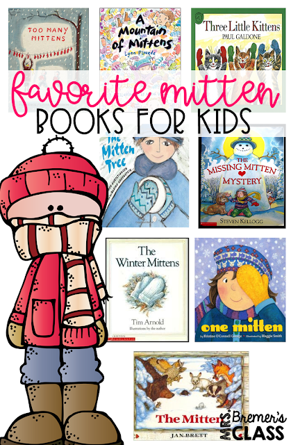 Mitten themed winter book study companion activities, featuring literacy activities for The Mitten and The Missing Mitten Mystery, Three Little Kittens, and The Mitten Tree. Perfect for a winter theme in Kindergarten and First Grade! Packed with fun ideas and guided reading literacy activities. Common Core aligned. K-1. #winter #bookstudy #bookstudies #literacy #guidedreading #1stgrade #kindergarten #bookcompanion #bookcompanions #1stgradereading #kindergartenreading #picturebookactivities #winterbooks #mittens #mittenbooks