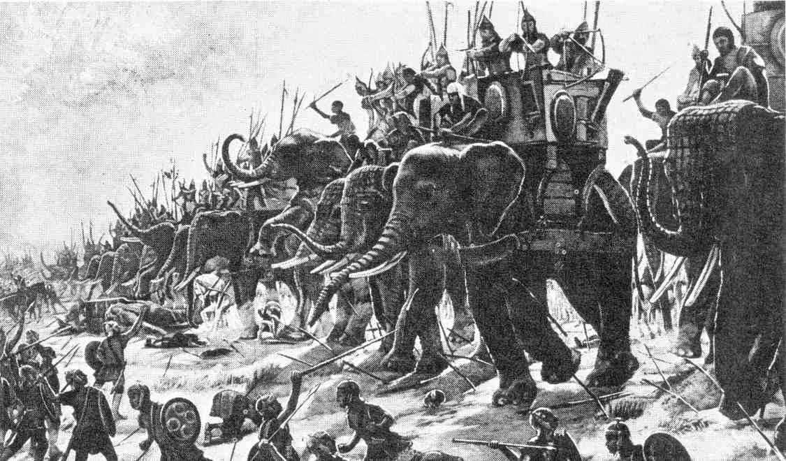 El ejercito de Cartago, que lucho contra Roma