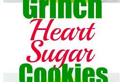 Grinch Heart Raspberry Filled Sugar Cookies Recipe