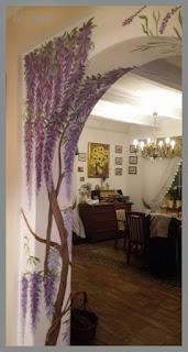 Lawenda i glicynia na ścianie cz.4 – Wisteria and lavender on the wall part 4