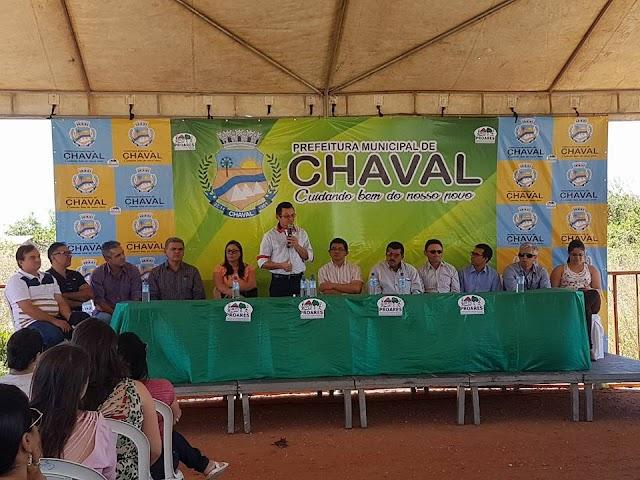 """Prefeitura de Chaval assina ordem de serviço na retomada das obras do """"Projeto Proares"""""""