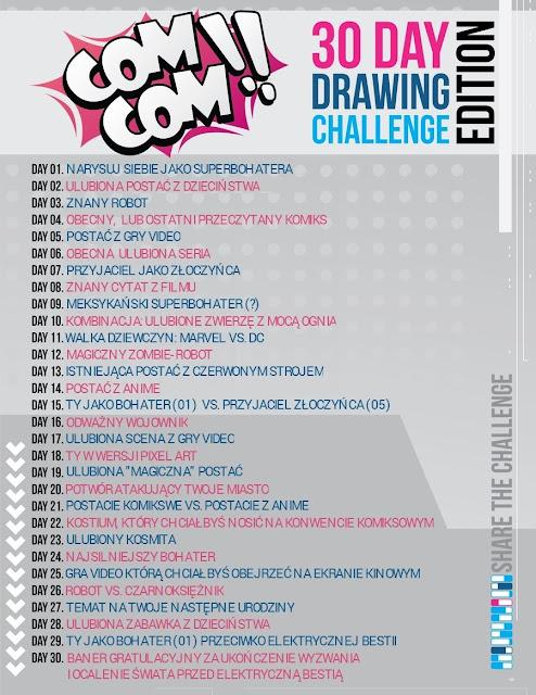 komiks; wyzwanie; 30 days; challenge; comcom