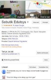 Toko Mainan Anak di Yogyakarta