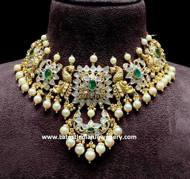 Nakshi Choker with Bali Pendant