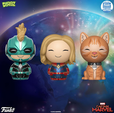 Marvel's Captain Marvel Dorbz Vinyl Figures by Funko