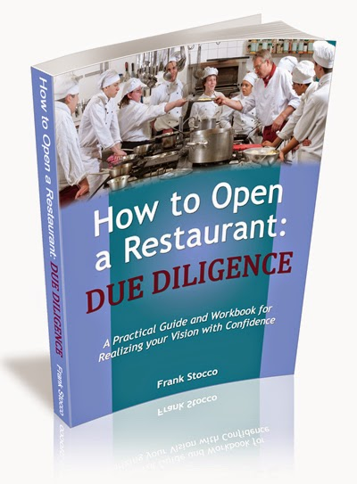 How to Open a Restaurant: Due Diligence, workbook by Frank Stocco