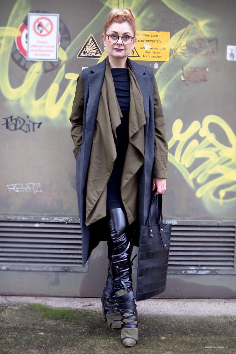 so stylst Du die schwarze Lackleder Leggings von H&M