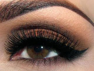 Metallic colors also perform well with brown eyes